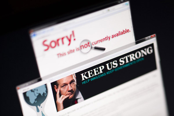 Visa и MasterCard не дают WikiLeaks собирать пожертвования