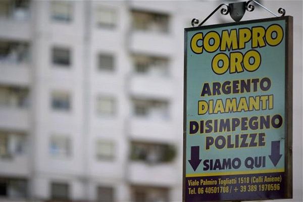 Итальянцев «довели» до массовой продажи золота